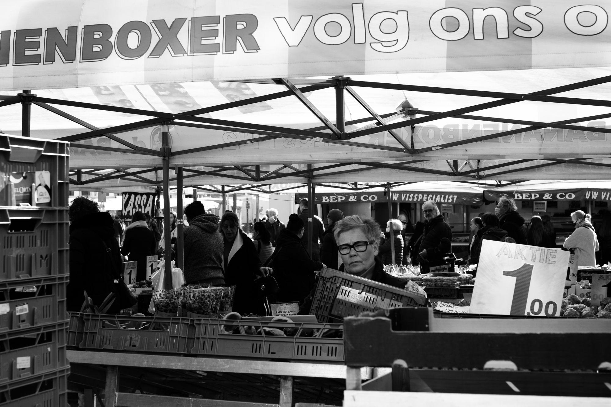 A market scene in Roermond