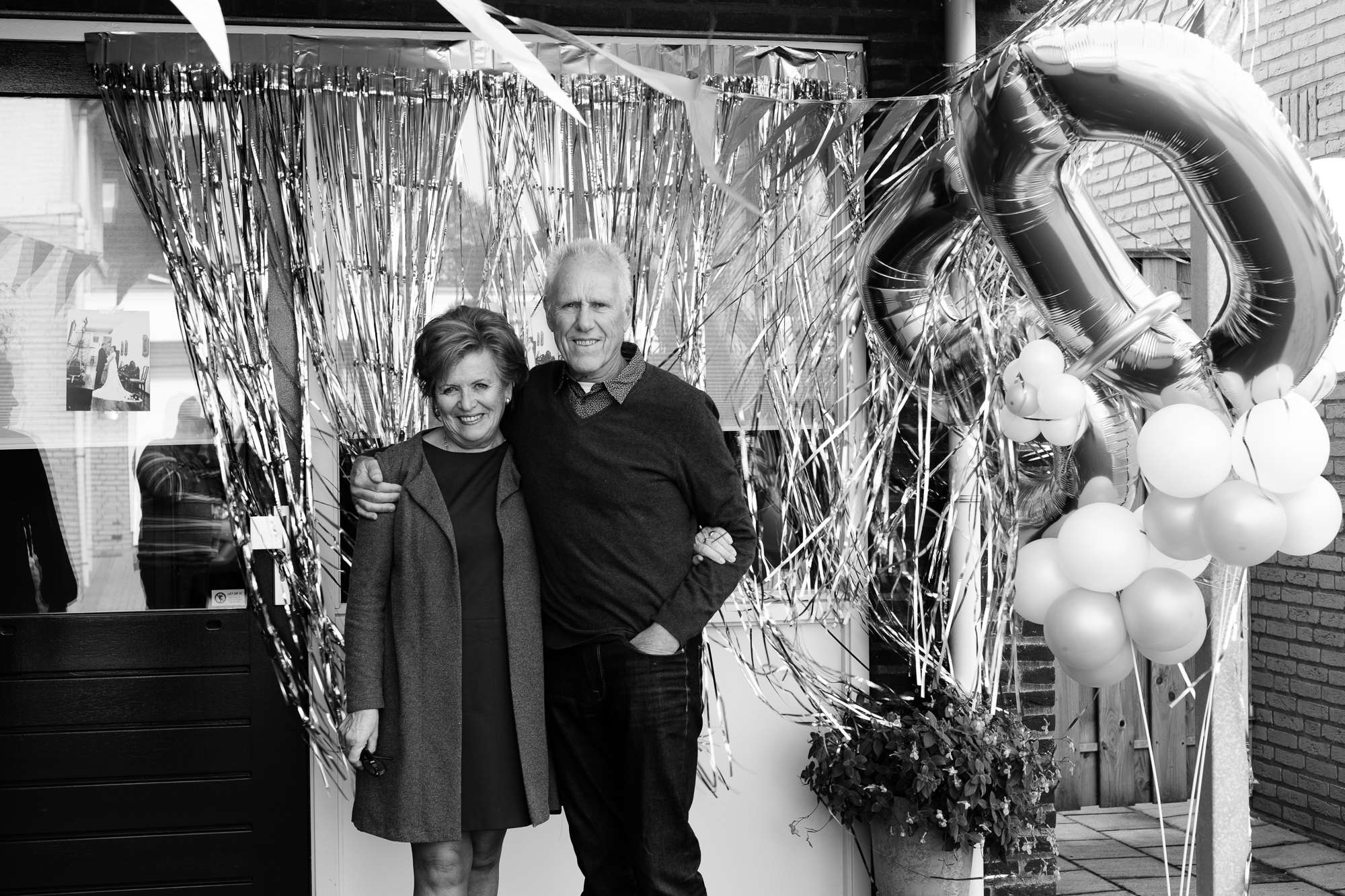 A couple at their 50th wedding anniversary