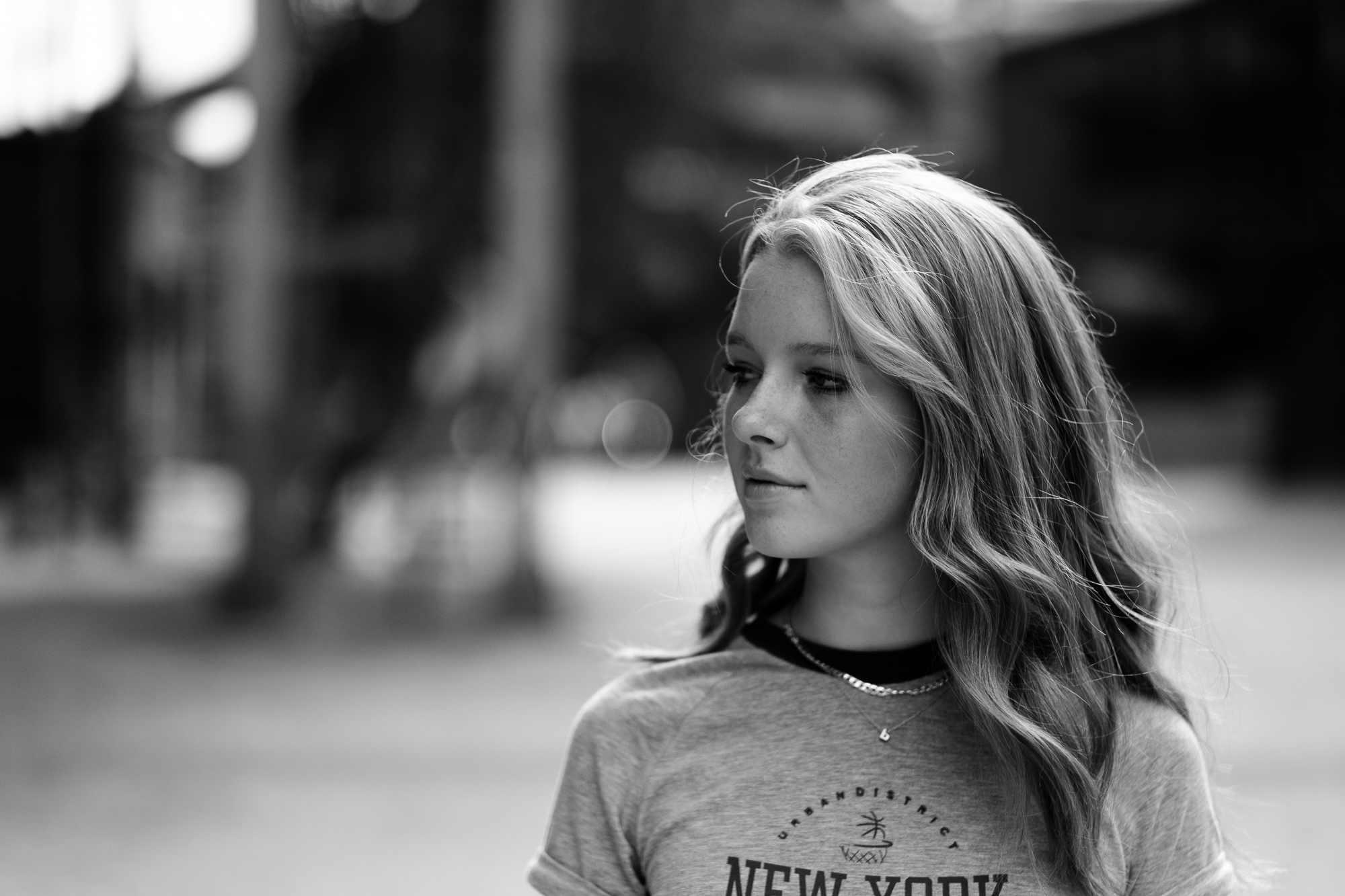 Profile portrait of a girl