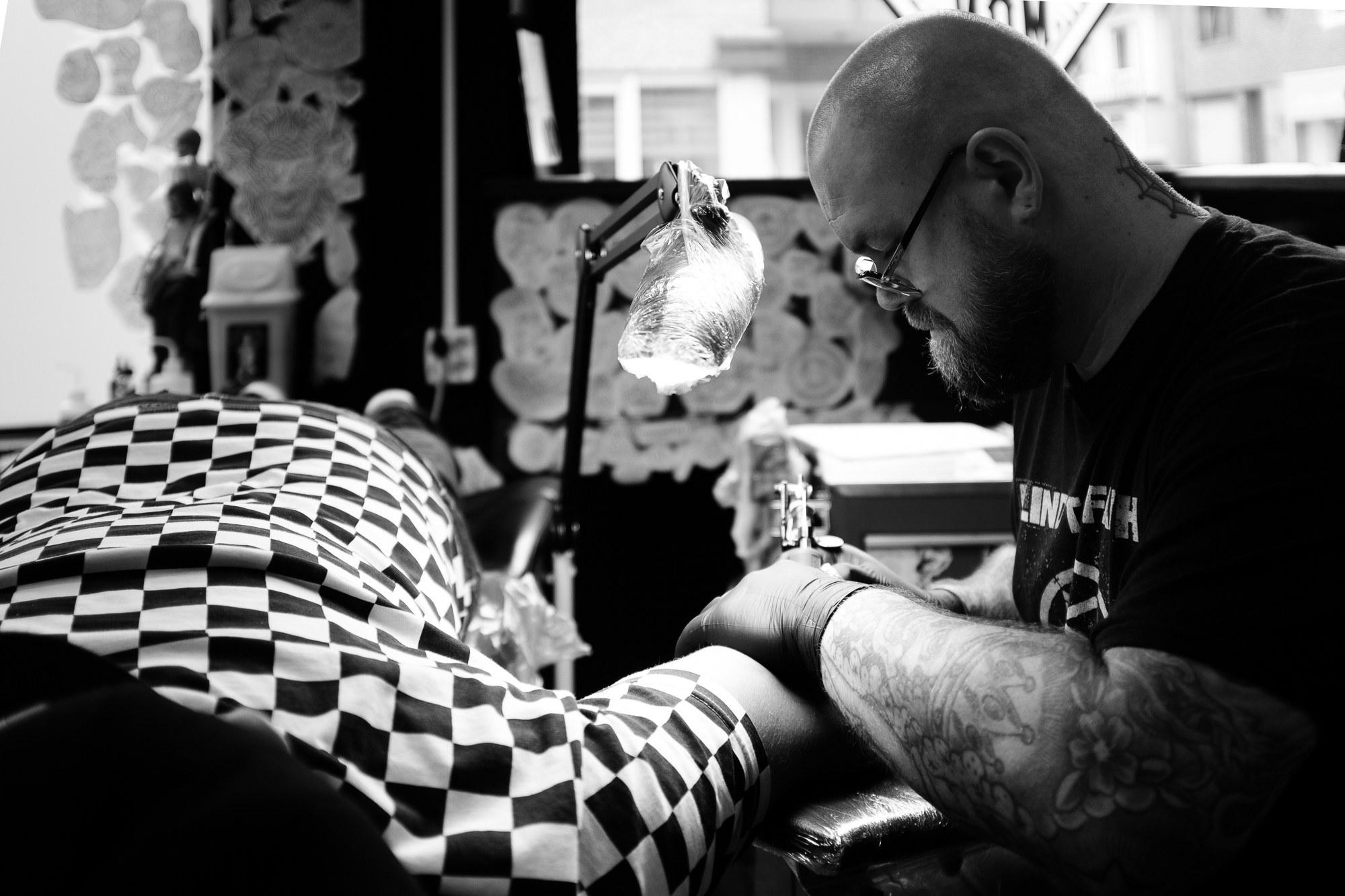 """Richard """"Devil's Backbone"""", Tattoo artist"""